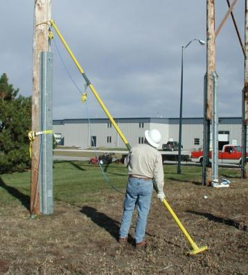 Placing Winch Pole